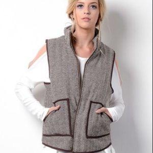 🎃Wishlist Herringbone Quilted Vest